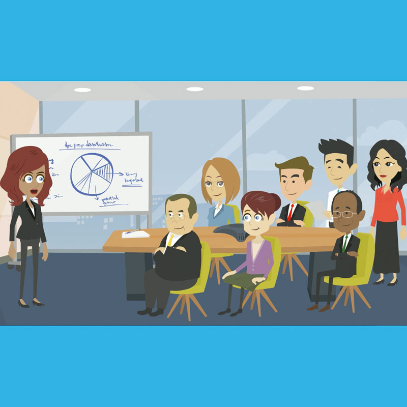Elearning animation for business