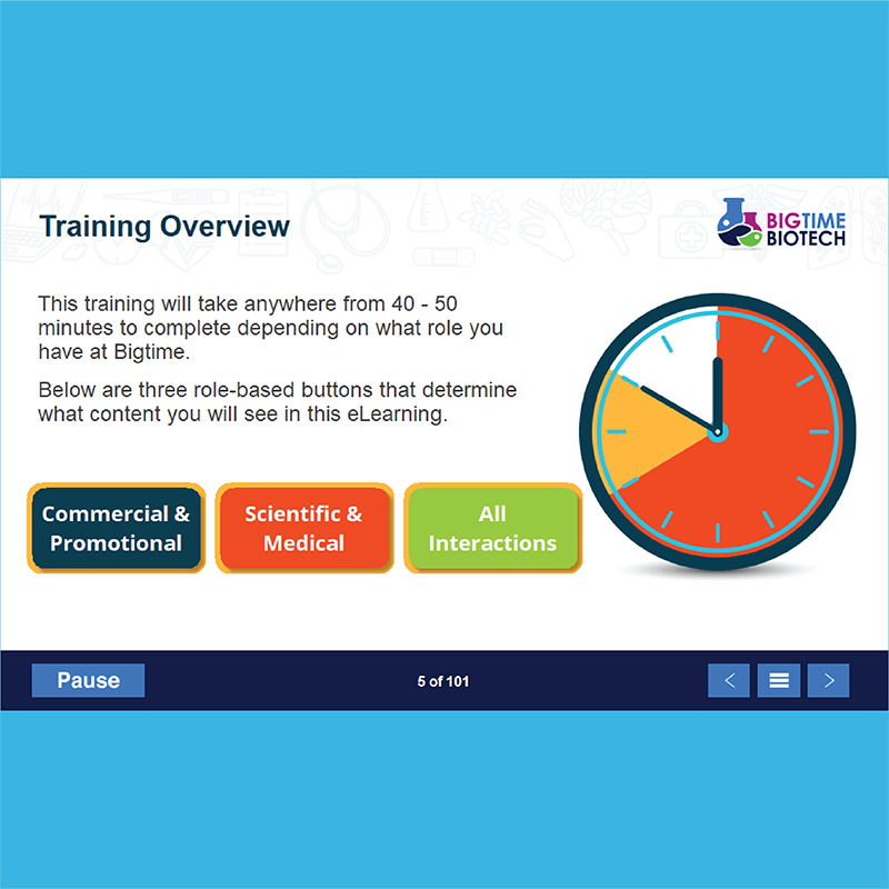 Role based navigation eLearning with HDS consulting